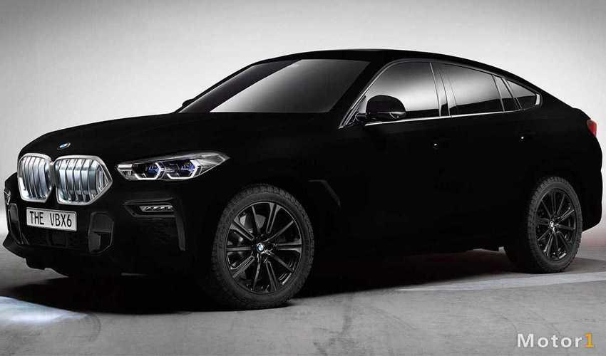 سیاه ترین خودروی جهان ؛ ب ام و X6 با رنگ Vantablack
