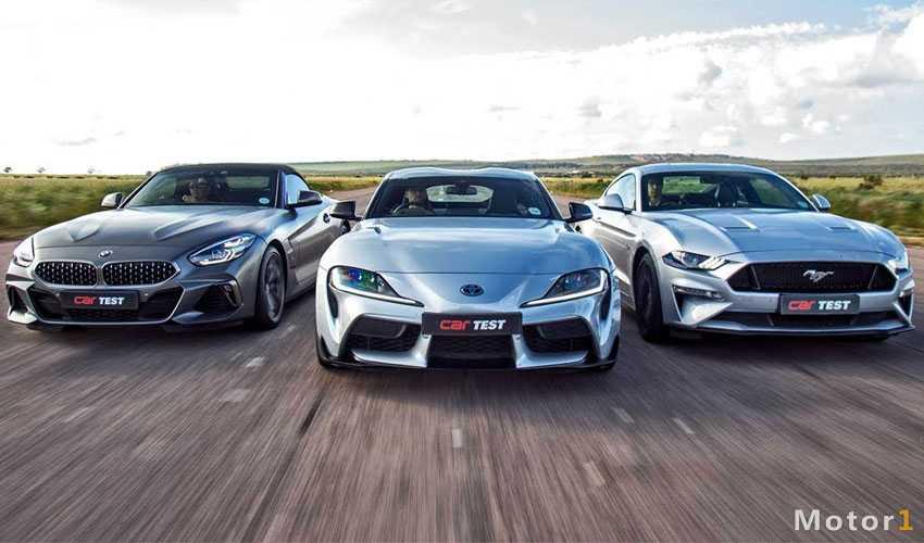 درگ دیدنی تویوتا سوپرا ، بی ام و Z4 M40i و فورد موستانگ GT