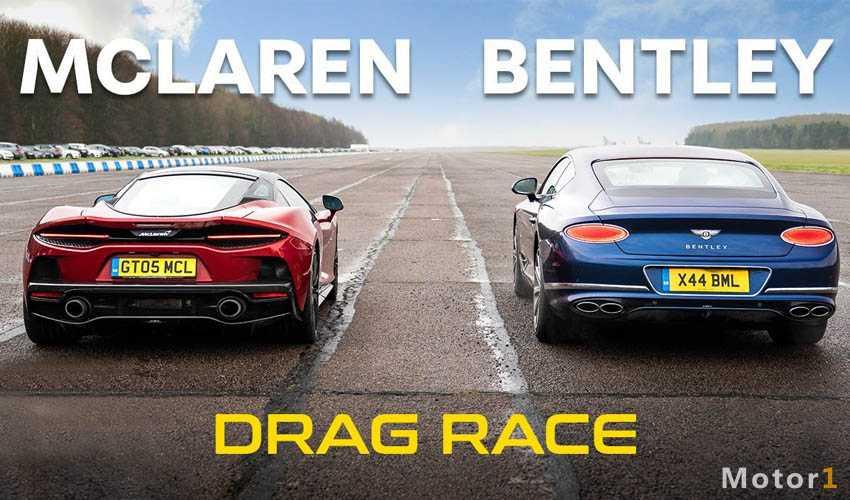 درگ کوپه های لوکس؛ مک لارن GT و بنتلی کانتیننتال GT