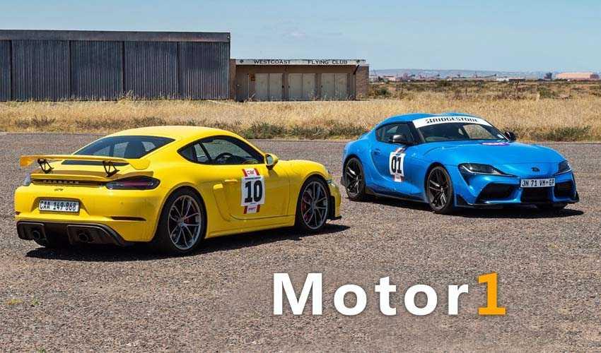 مسابقه درگ تویوتا سوپرا و پورشه 718 کیمن